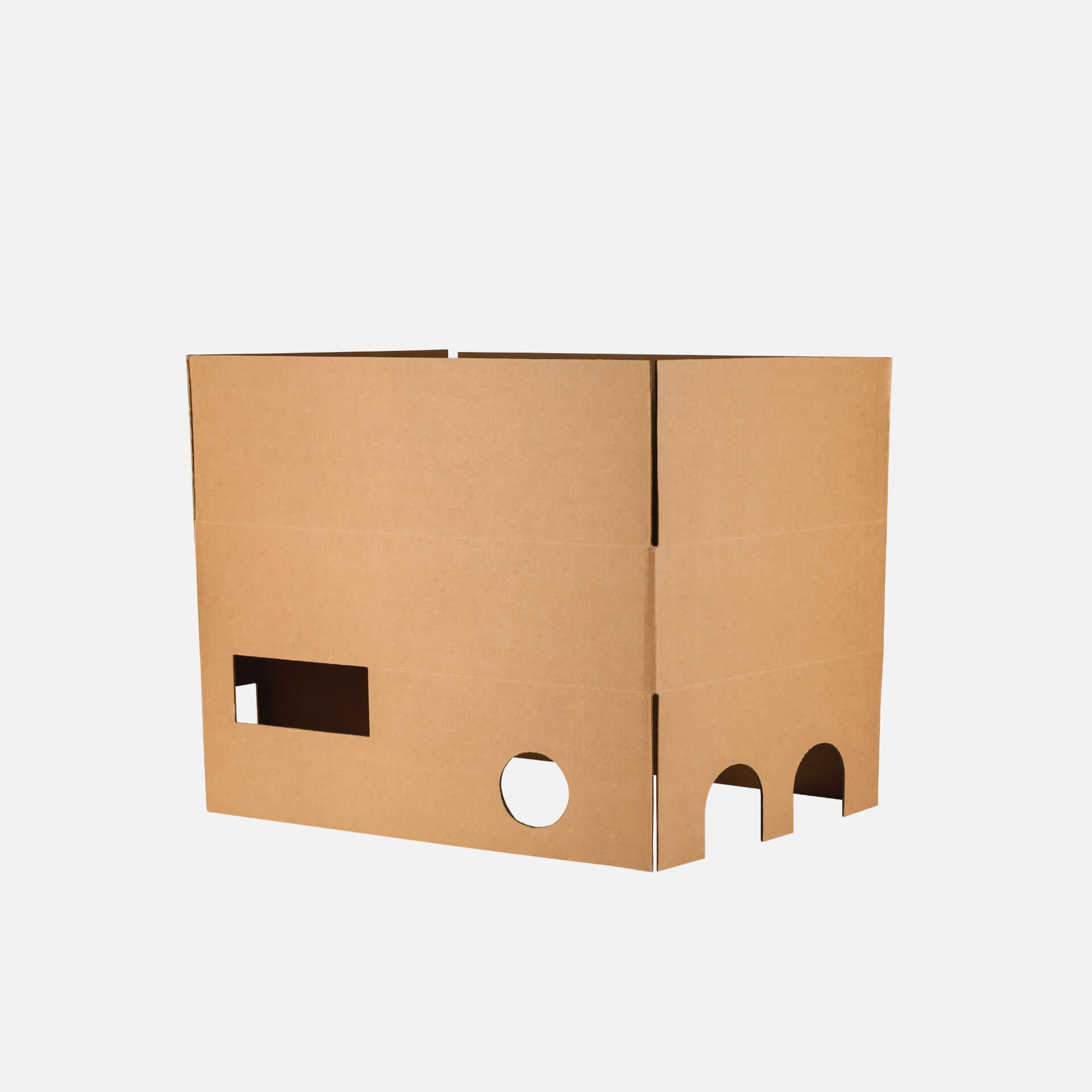 scatola americana con fondo fustellato