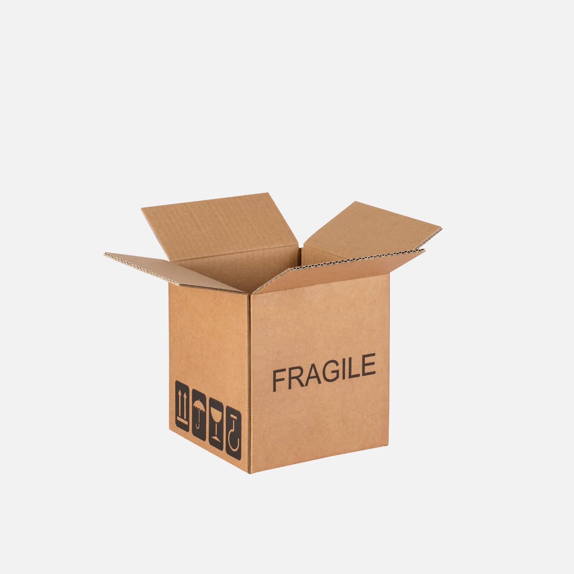 scatola americana con scritta fragile