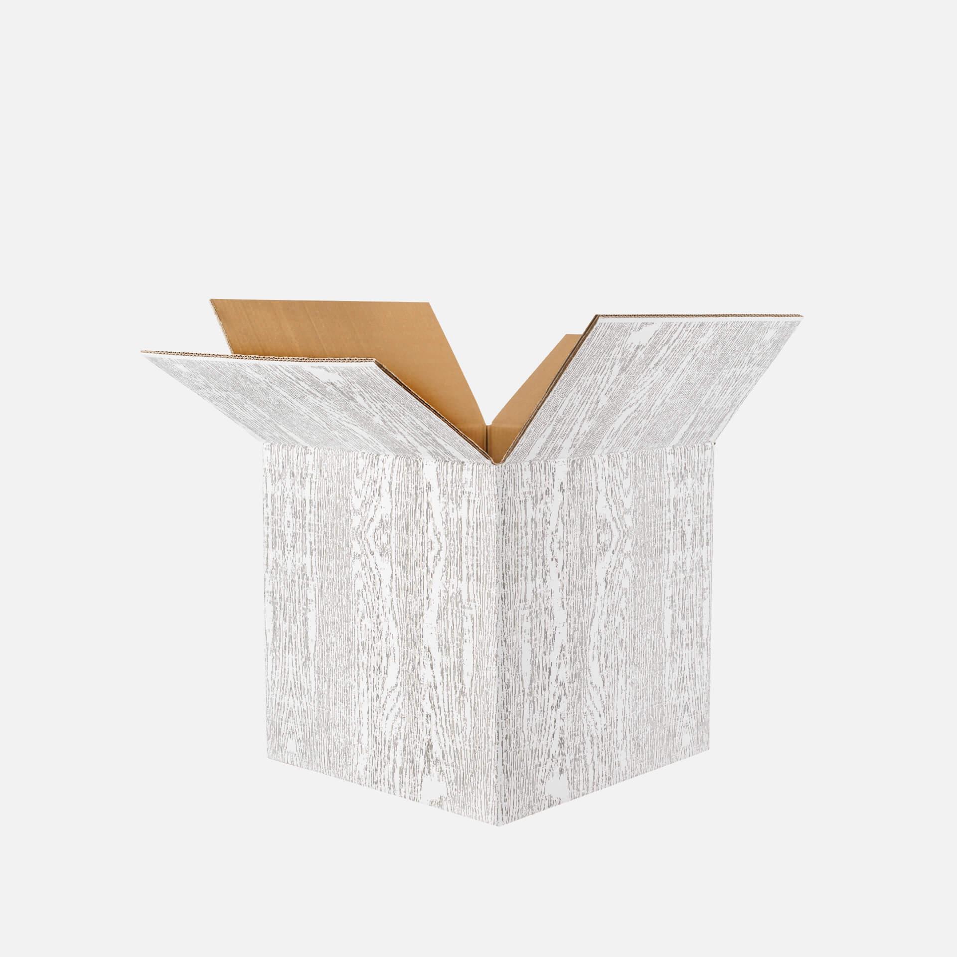 scatola americana stampata bianco