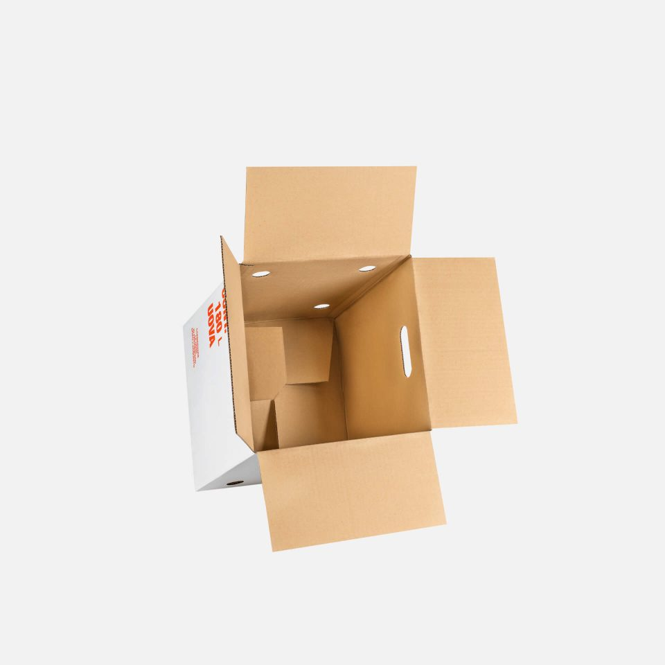 scatola con fondo automatico